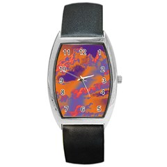 Sky pattern Barrel Style Metal Watch