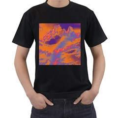 Sky pattern Men s T-Shirt (Black) (Two Sided)