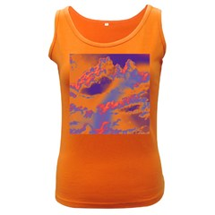 Sky pattern Women s Dark Tank Top