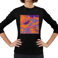 Sky pattern Women s Long Sleeve Dark T-Shirts