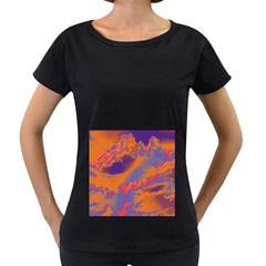Sky pattern Women s Loose-Fit T-Shirt (Black)