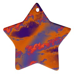 Sky pattern Star Ornament (Two Sides)
