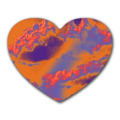 Sky pattern Heart Mousepads