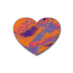 Sky pattern Heart Coaster (4 pack)