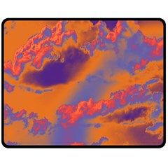 Sky pattern Fleece Blanket (Medium)