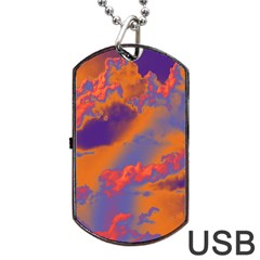 Sky pattern Dog Tag USB Flash (One Side)
