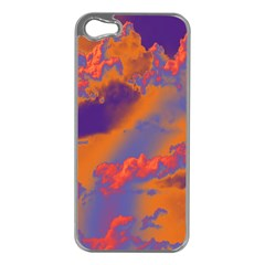 Sky pattern Apple iPhone 5 Case (Silver)