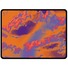 Sky pattern Double Sided Fleece Blanket (Large)