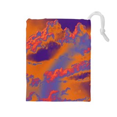 Sky pattern Drawstring Pouches (Large)
