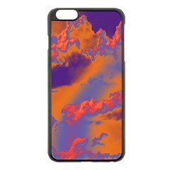 Sky pattern Apple iPhone 6 Plus/6S Plus Black Enamel Case