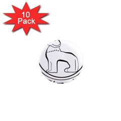 Seal of Indian State of Manipur  1  Mini Magnet (10 pack)