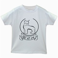 Seal of Indian State of Manipur  Kids White T-Shirts