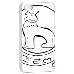 Seal of Indian State of Manipur  Apple iPhone 4/4s Seamless Case (White)