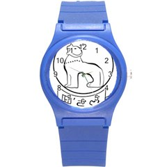 Seal of Indian State of Manipur  Round Plastic Sport Watch (S)