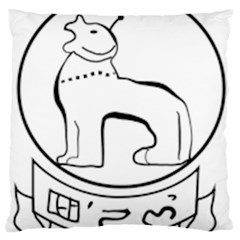 Seal of Indian State of Manipur  Large Cushion Case (Two Sides)