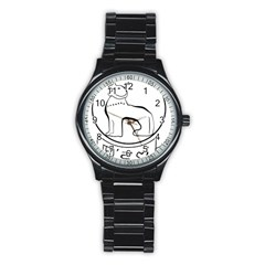 Seal of Indian State of Manipur  Stainless Steel Round Watch