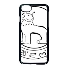 Seal of Indian State of Manipur  Apple iPhone 7 Seamless Case (Black)