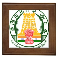Seal of Indian State of Tamil Nadu  Framed Tiles