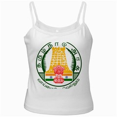 Seal of Indian State of Tamil Nadu  White Spaghetti Tank