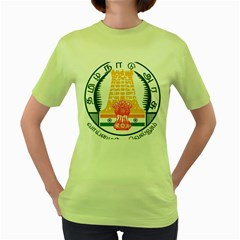 Seal of Indian State of Tamil Nadu  Women s Green T-Shirt