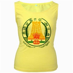 Seal of Indian State of Tamil Nadu  Women s Yellow Tank Top