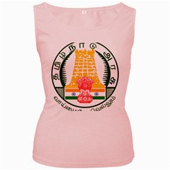 Seal of Indian State of Tamil Nadu  Women s Pink Tank Top