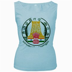Seal of Indian State of Tamil Nadu  Women s Baby Blue Tank Top