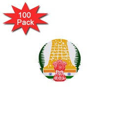 Seal of Indian State of Tamil Nadu  1  Mini Buttons (100 pack)