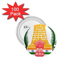 Seal of Indian State of Tamil Nadu  1.75  Buttons (100 pack)
