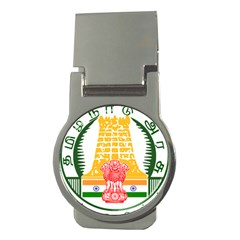 Seal of Indian State of Tamil Nadu  Money Clips (Round)
