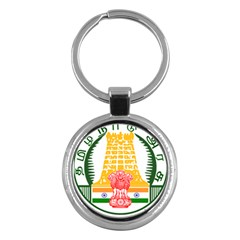 Seal of Indian State of Tamil Nadu  Key Chains (Round)