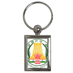 Seal of Indian State of Tamil Nadu  Key Chains (Rectangle)