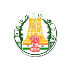 Seal of Indian State of Tamil Nadu  Magnet 3  (Round)