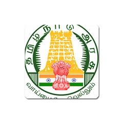 Seal of Indian State of Tamil Nadu  Square Magnet