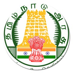 Seal of Indian State of Tamil Nadu  Magnet 5  (Round)