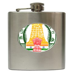 Seal of Indian State of Tamil Nadu  Hip Flask (6 oz)