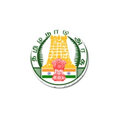 Seal of Indian State of Tamil Nadu  Golf Ball Marker (4 pack)