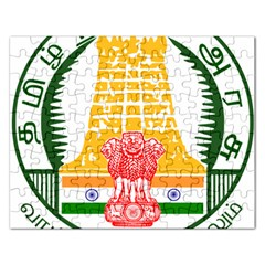 Seal of Indian State of Tamil Nadu  Rectangular Jigsaw Puzzl