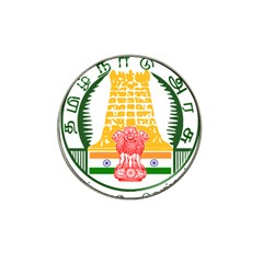 Seal of Indian State of Tamil Nadu  Hat Clip Ball Marker (4 pack)