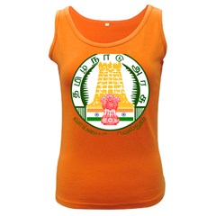 Seal of Indian State of Tamil Nadu  Women s Dark Tank Top