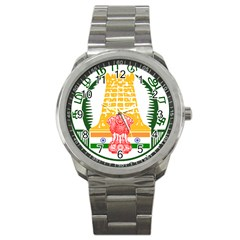 Seal of Indian State of Tamil Nadu  Sport Metal Watch