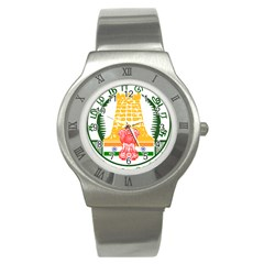 Seal of Indian State of Tamil Nadu  Stainless Steel Watch