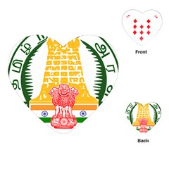Seal of Indian State of Tamil Nadu  Playing Cards (Heart)