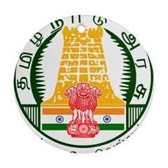 Seal of Indian State of Tamil Nadu  Round Ornament (Two Sides)