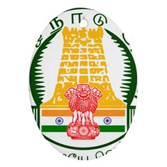 Seal of Indian State of Tamil Nadu  Oval Ornament (Two Sides)