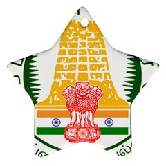 Seal of Indian State of Tamil Nadu  Star Ornament (Two Sides)