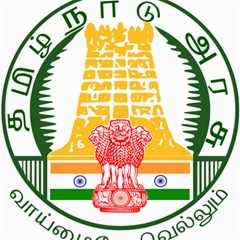 Seal of Indian State of Tamil Nadu  Canvas 12  x 12