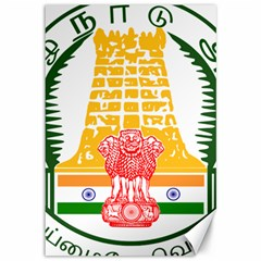 Seal of Indian State of Tamil Nadu  Canvas 12  x 18
