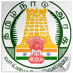 Seal of Indian State of Tamil Nadu  Canvas 16  x 16