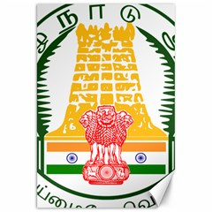 Seal of Indian State of Tamil Nadu  Canvas 20  x 30